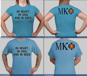 MKP Blue shirt design